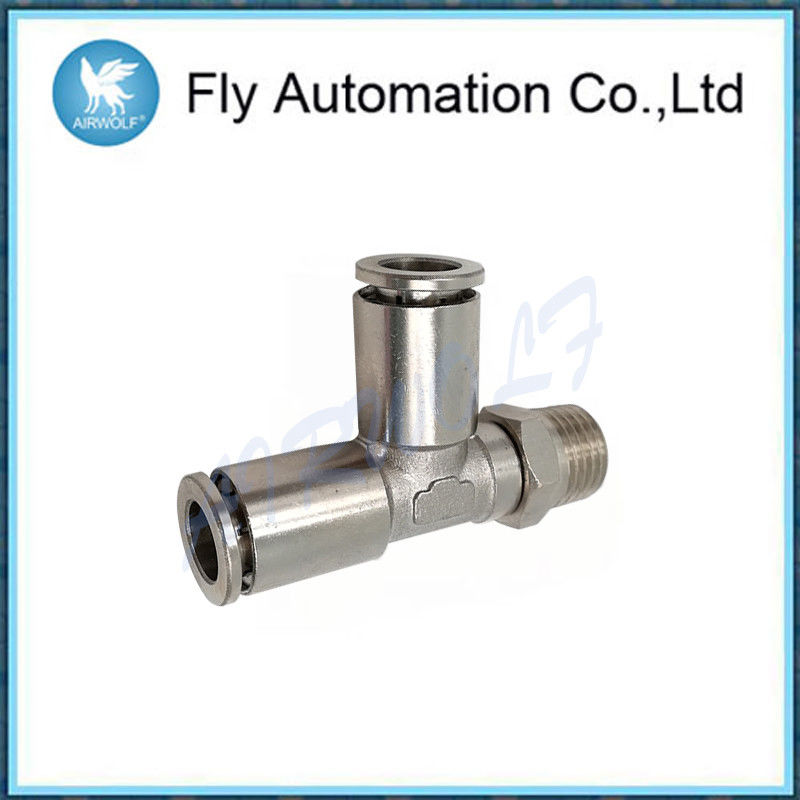Lateral Swivel Pneumatic Tube Fittings S6440 Series Silvery Connector