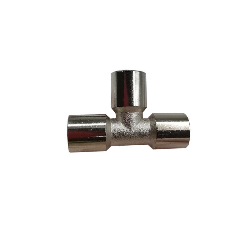 General Adapter Compression Pipe Fittings With Three Teeth TTY-PEF Copper Nickel Plating