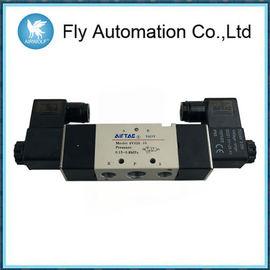 Zawory pneumatyczne elektromagnetyczne z podwójną cewką 5/2 Airtac 4M320-08 4M320-10 AC220V DC24V